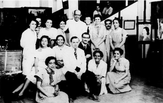 Turma de pintura na Universidade do Distrito Federal - 1935